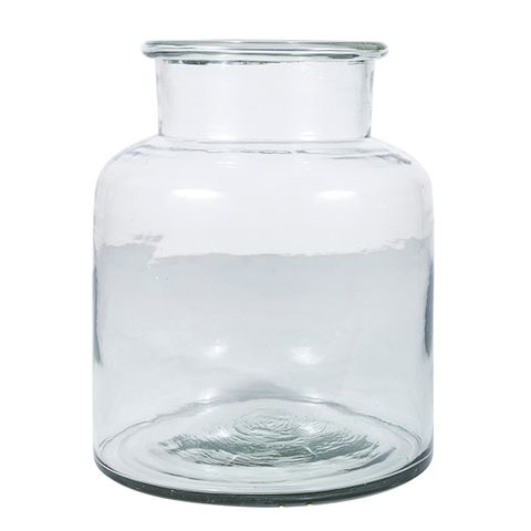 Wide Glass Vase Large