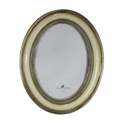 """Grace Oval Photoframe Ivory 5x7"""""""