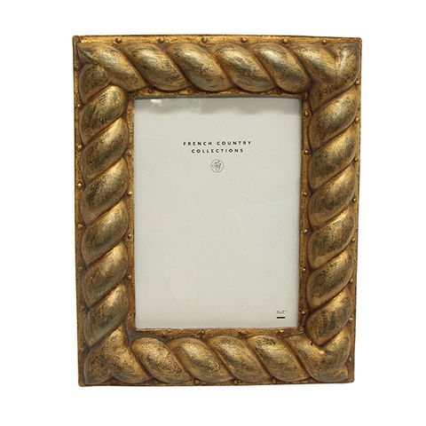 """Gold Rope Frame 5x7"""""""