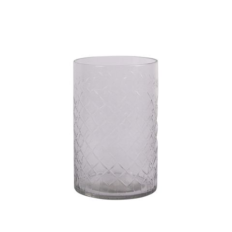 Cross Cut Straight Sided Vase Small