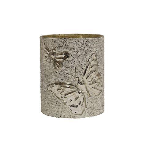 Silver Butterfly Votive