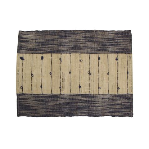 Ramie Natural and Blue Placemat