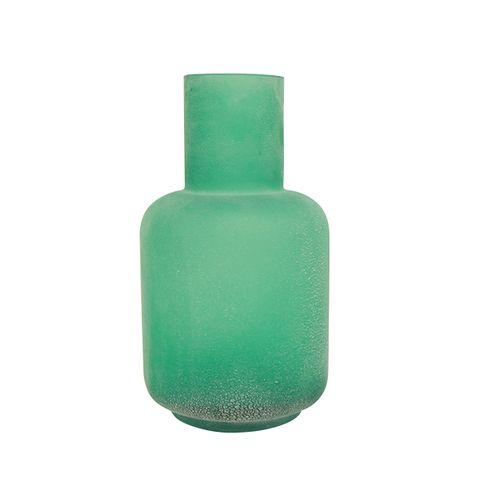 Distressed Aqua Bottle Vase Large