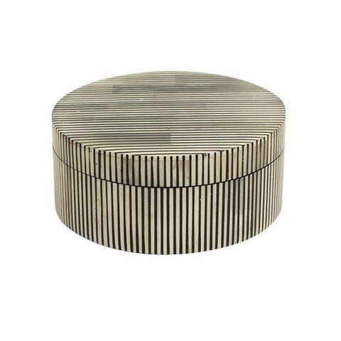 Cleo Striped Round Box