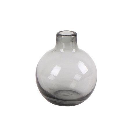 Grey Round Bud Vase