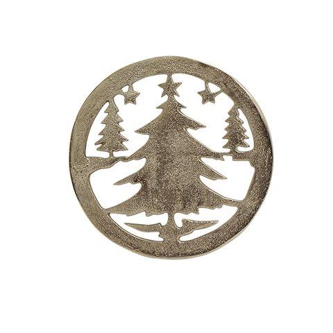 ChristmasTree Trivet Silver