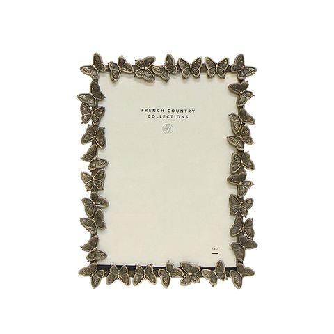 """Butterfly Brass Frame 5x7"""""""