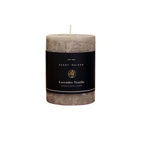"Maison SET 6 Pillar Candle Lavender Vanilla 3x4"""