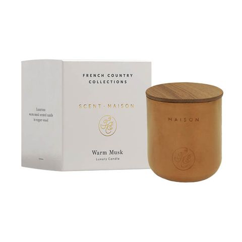 Warm Musk Candle in Copper Vessel