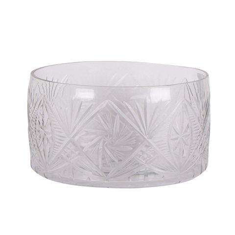 Cut Glass Trifle Bowl Large