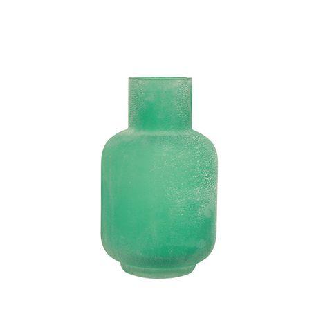 Distressed Aqua Bottle Vase Small