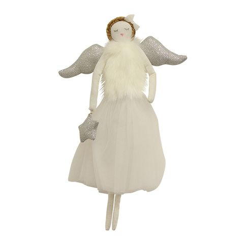 Ella Hanging Angel White Large