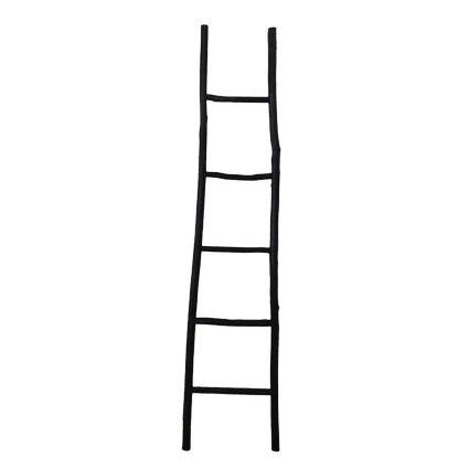 Black Decorative Ladder 42x4x180cm