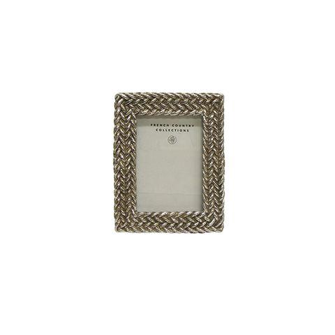 """Bonita Weave Photo Frame Silver 2.5x3.5"""""""
