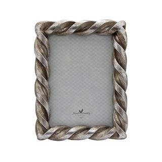 Rope Rectangle Pewter  5x7""