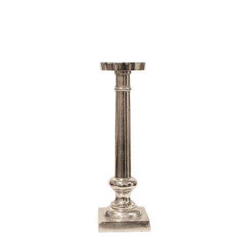 Small Silver Como Candle Stick