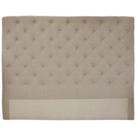 Button Bed Head Natural Linen Queen