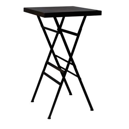 Square Black Iron Folding Table