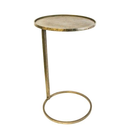 Gold Circle Couch Side Table
