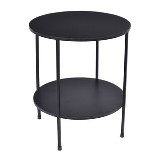 Benny 2 Tiered Table Black