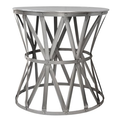 Large Nickel Drum Table