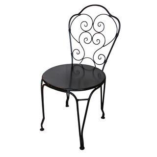 Black Iron Paris Chair
