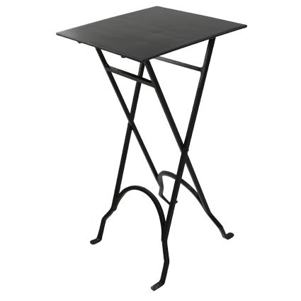 Square Black Iron Side Table