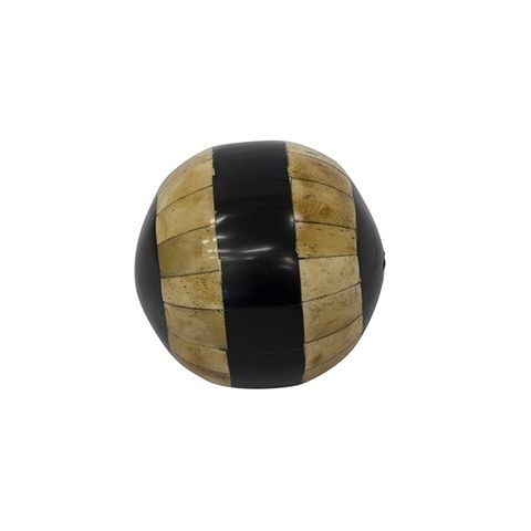 Natural Black Stripe Bone Décor Ball