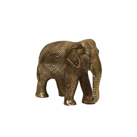 Elephant Décor Antique Gold
