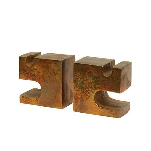 Cubist Block Bookends