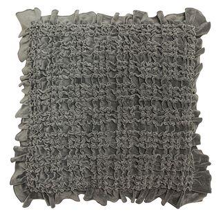 Ruffle Grey Cushion