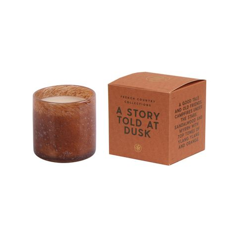 A Story Told at Dusk Glass Candle