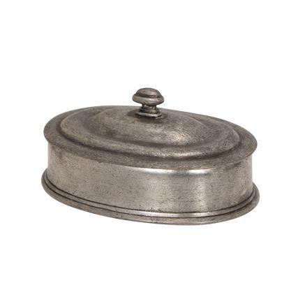 Pewter Oval Box 7cmHx13cmLx8.5cmW