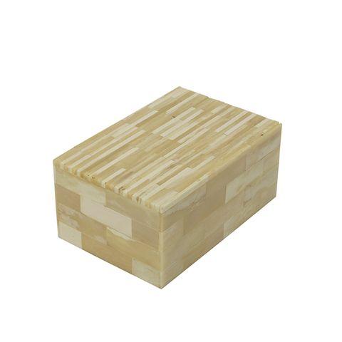 White Bone Stripe Box