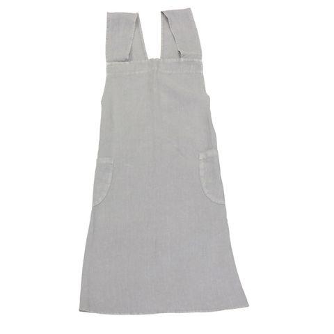 Cross Back Apron Grey Stonewashed Linen