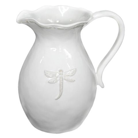 Dragonfly Ceramic Pitcher Large