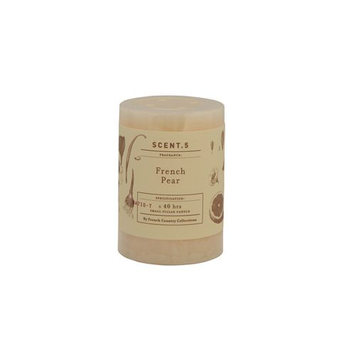 Mottle Pillar Candle French Pear 3x4""