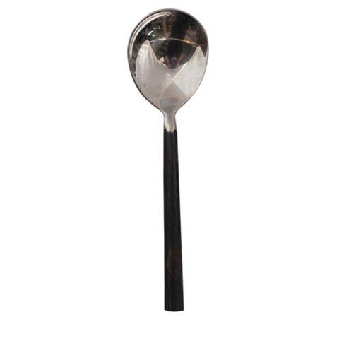 Black Handle Soup Spoon