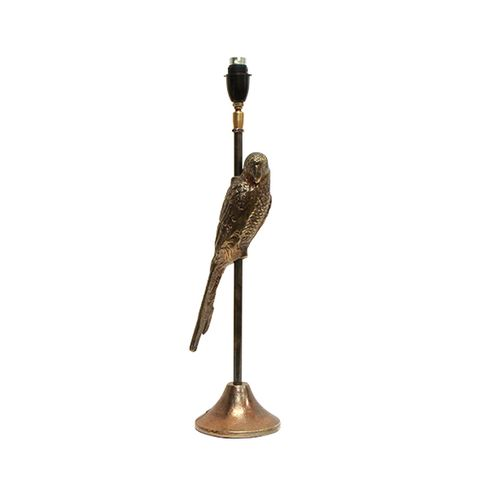 Parrot Antique Gold Lamp Base