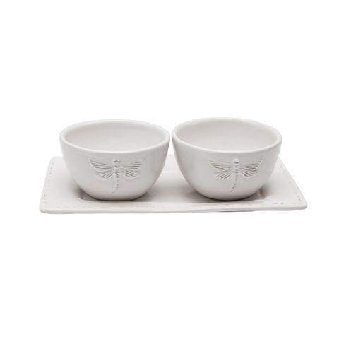 Dragonfly Ceramic Condiment Set