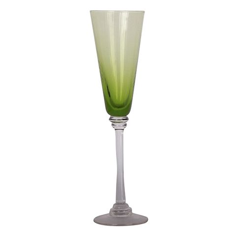Talbot Champagne Glass Green