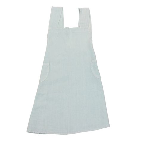 Cross Back Apron Pale Blue Stonewashed Linen