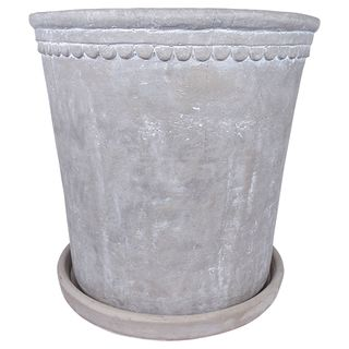 Grey Scallop Planter Large