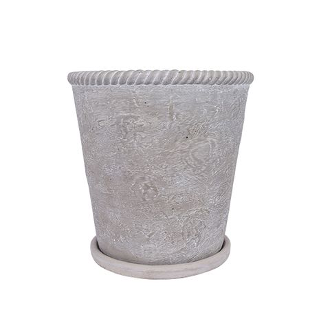 Rope Planter Small  Grey