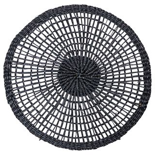 Woven Round Placemat Black
