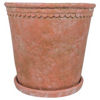 Scallop Planter Large Terracotta