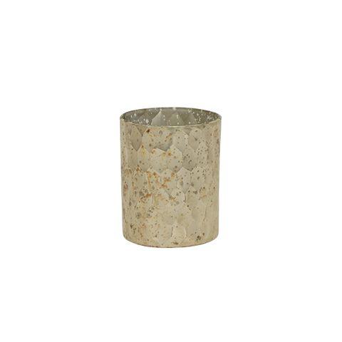 Antique Silver Pressed Votive Small
