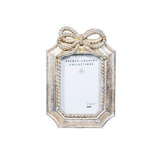 "Silver Bow Frame Mini Rectangle 2.5x3.5"""