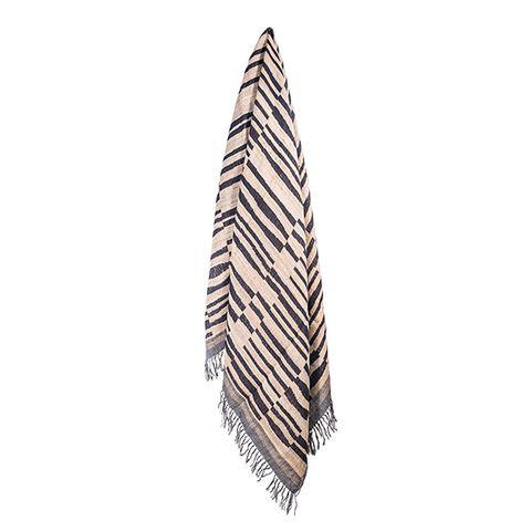 Stripes Wool Silk Throw
