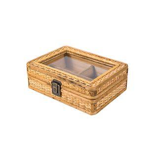 Natural Rattan Pigeonhole Storage Box Small